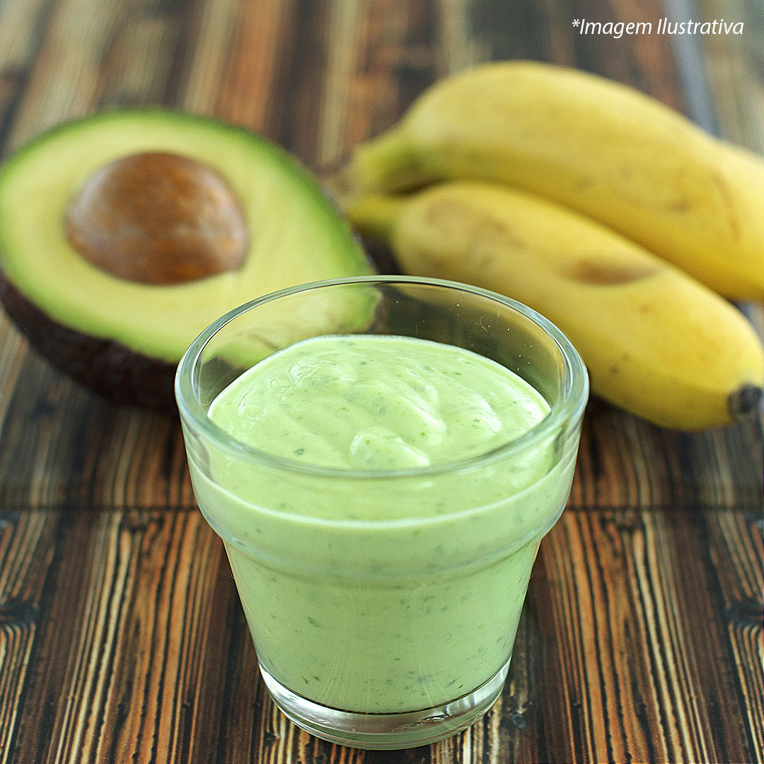 Smoothie de avocado com banana